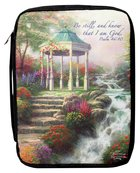 Bible Cover Thomas Kinkade Large Sweetheart Gazebo Bible Cover