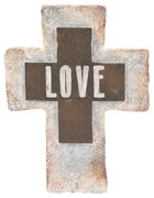 Resin Standing Cross: Love, 20Cm Plaque