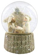 Knitted Nativity Waterglobe White/Beige Homeware