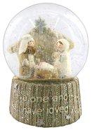 Knitted Nativity Waterglobe White/Beige Homeware