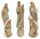 Porcelain 6 Piece Beige Glazed Nativity Set
