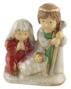 Porcelain Holy Family Colour Glazed Homeware