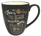 Mug: This is the Day That the Lord Has Made, Black With Gold & White, 12Oz