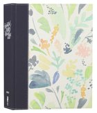 NIV Beautiful Word Coloring Bible Large Print Navy Floral (Black Letter Edition)