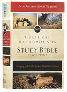 NIV Cultural Backgrounds Study Bible Large Print Red Letter Edition Hardback