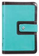 NIV Thinline Bible Compact Blue/Brown (Red Letter Edition) Premium Imitation Leather