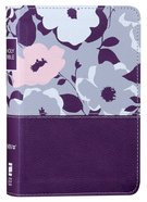 NIV Thinline Bible Compact Purple Floral (Red Letter Edition) Premium Imitation Leather