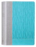 NIV Faithlife Illustrated Study Bible Gray/Blue Premium Imitation Leather