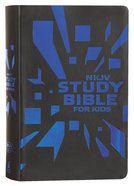 NKJV Study Bible For Kids Grey/Blue Cover (Black Letter Edition) Premium Imitation Leather