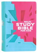 NKJV Study Bible For Kids Pink (Black Letter Edition) Premium Imitation Leather