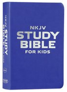 NKJV Study Bible For Kids Blue (Black Letter Edition)