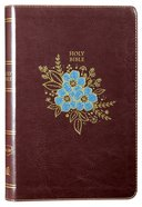 NKJV Thinline Bible Burgundy Floral (Red Letter Edition) Premium Imitation Leather
