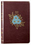NKJV Thinline Bible Burgundy Floral (Red Letter Edition) Premium Imitation Leather