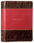 KJV Study Bible Burgundy Full-Color Edition (Red Letter Edition) Premium Imitation Leather