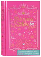 ICB Princess Bible With Coloring Sticker Book Pink (Black Letter Edition) Hardback