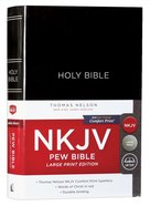NKJV Pew Bible Large Print Black (Red Letter Edition) Hardback