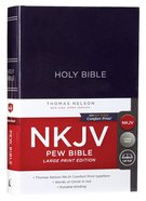 NKJV Pew Bible Large Print Blue (Red Letter Edition) Hardback