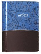 NIV Woman's Study Bible Blue/Brown Full-Color Premium Imitation Leather