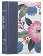 NIV Woman's Study Bible Blue Floral Full-Color (Red Letter Edition) Fabric Over Hardback