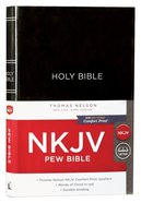 NKJV Pew Bible Black (Red Letter Edition) Hardback