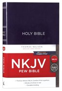 NKJV Pew Bible Blue (Red Letter Edition) Hardback