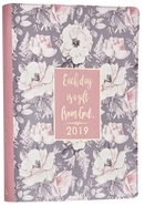 2019 18-Month Diary/Planner: Pink Floral Pattern