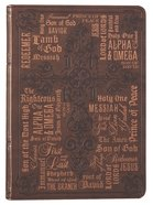 Journal: Names of Jesus, Dark/Light Brown Imitation Leather