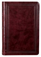 ESV Large Print Value Thinline Bible Mahogany Border (Black Letter Edition)