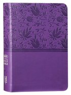 NKJV Large Print Compact Reference Bible Purple Red Letter Edition