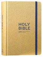 NIV Journalling Bible Tan With Elastic Strap Hardback