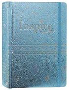 NLT Inspire Bible For Girls Metallic Blue (Black Letter Edition) Imitation Leather Over Hardback