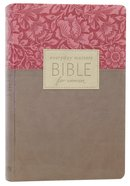 NLT Everyday Matters Bible For Women Rose Floral/Khaki Flexisoft Imitation Leather
