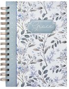 Spiral Journal: Grace, Blue/White Floral (Large)
