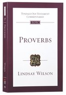 Proverbs (Tyndale Old Testament Commentary Re-issued/revised Series) Paperback