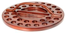 Communion Tray 34 Hole Wooden Round