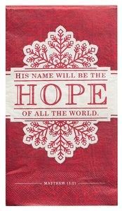 Christmas Large 6-Fold Paper Napkins: Hope (Red/Grey) (20 Pk)