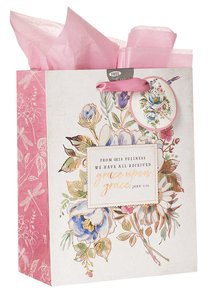 Gift Bag Medium: Grace Upon Grace, Floral