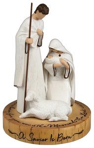 Christmas Resin Sculpture: Savior is Born (Luke 2:11)