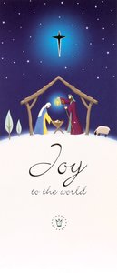 Christmas Boxed Cards Joy to the World, Nativity on Hillside