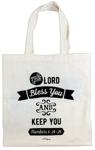 Cloth Bag: The Lord Bless You and Keep You, Cream