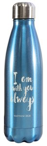 Water Bottle 500ml Stainless Steel: I Am With You Always, Spectrum