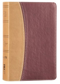 Amplified Holy Bible Compact Camel\Burgundy (Black Letter Edition)