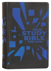 NKJV Study Bible For Kids Grey/Blue Cover