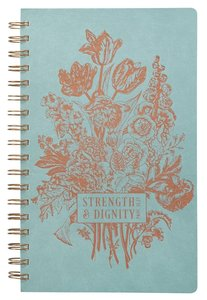 Spiral Journal: Strength & Dignity, Pale Blue/Rose Gold Etching