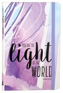 Journal: You Are the Light of the World, Purple, Elastic Band Closure