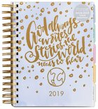 2019 18-Month Diary/Planner: God Always....