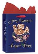 Christmas Gift Bag Medium: Dove - Joy, Peace, Hope, Love (Romans 15:13 Kjv) Stationery