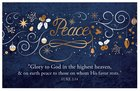 Christmas Pass-Around Cards: Peace Navy Gold Festive (25 Pack)