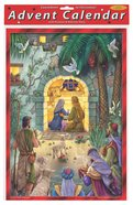 Advent Calendar: Peaceful Nativity Scene, Glitter Calendar