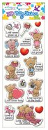 Puffy Stickers: Love Bears All Series (1 Sheet Per Pack)